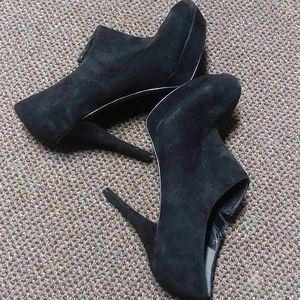 Marc Fisher platform suede booties